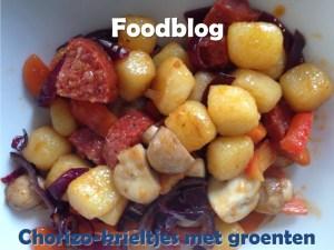 * Foodblog * Home made Chorizo-krieltjes met groenten