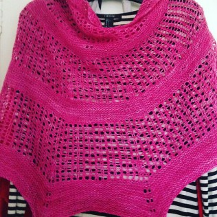 Cia's Hoxne- as knit to wear to Pip's wedding!