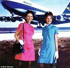 E3O BOAC air hostess