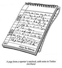 E33 shorthand notebook