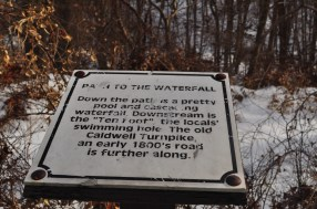 Doodletown - Path to the Waterfall Sign