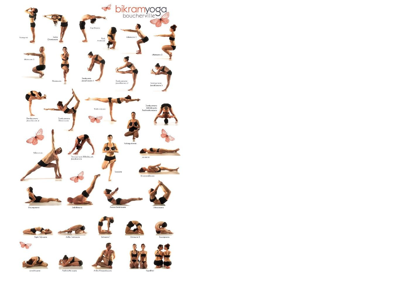 photo relating to Bikram Yoga Poses Chart Printable referred to as Warm Yoga Pose Chart