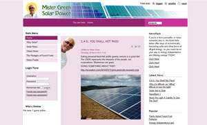Mister Green Solar Power Home Page
