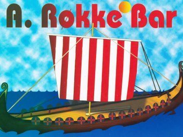 Roseberg Viking Ship Bar Sign