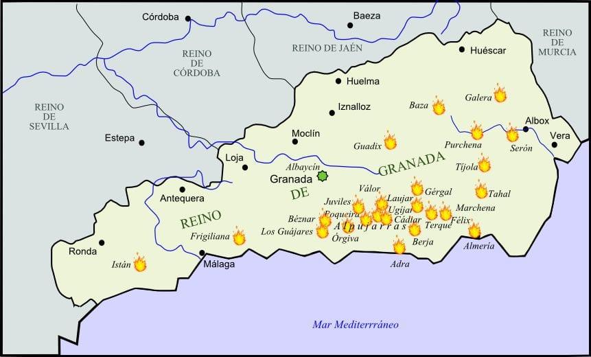 المقاومة الإسلامية في الأندلس بعد سقوط غرناطة..ثورة البَشَرَات الثانية 1568م 1