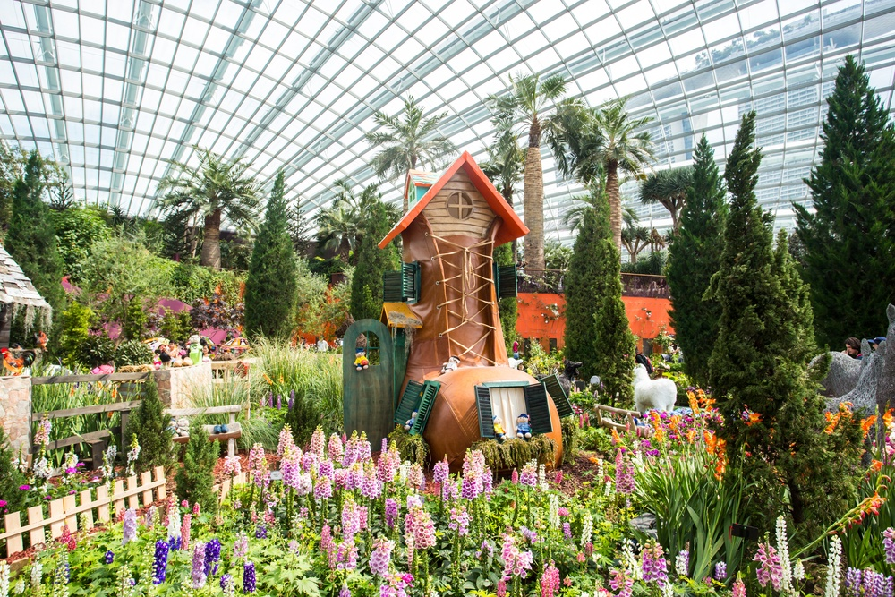 The Dutch-themed garden in Gardens by the Bay.