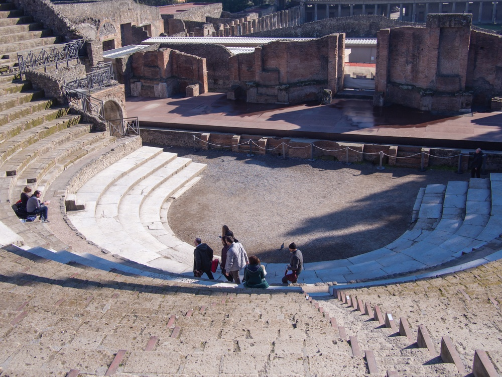 The theater arena is another highlight of visiting Pompeii.