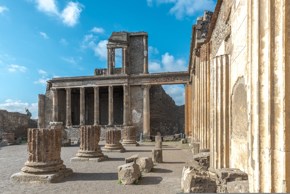 The basilica of Pompeii is one of the Forum's best-preserved buildings