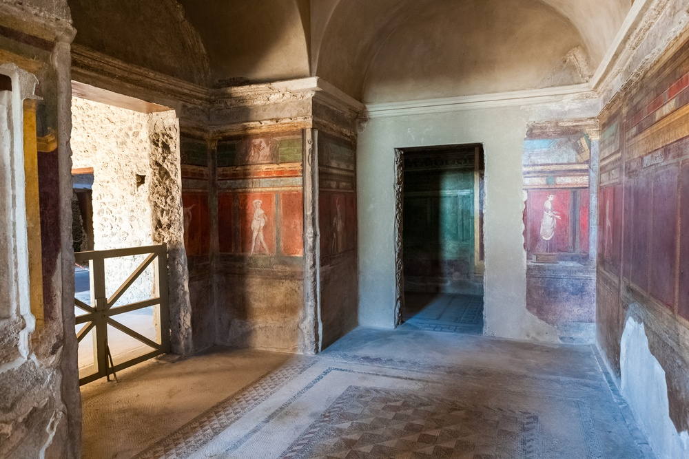 The Villa of Mysteries sits just outside the city, but makes for a worthy excursion when visiting Pompeii/