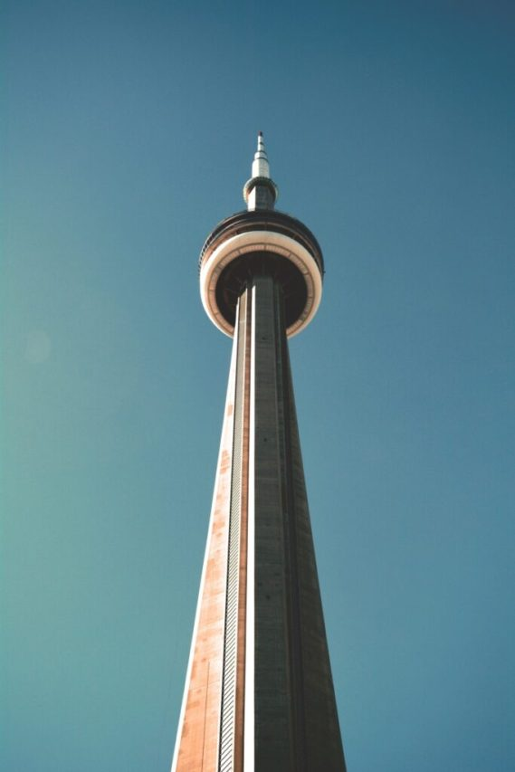 The CN Tower used to be the tallest skyscraper in the world, one of our favourite facts about Toronto