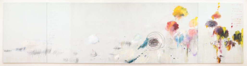 An photo of Cy Twombly's Untitled (Say Goodbye, Catullus, to the Shores of Asia Minor)