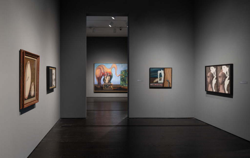Installation view of Surrealism galleries at the Menil Collection