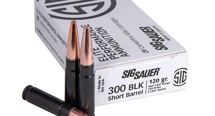 SIG SAUER presenta 120gr Supersonic 300BLK SBR Elite Copper Duty Munición para rifles de cañón corto
