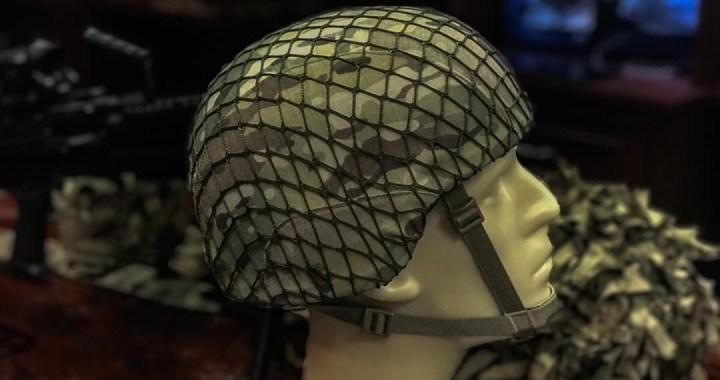 Raptor Tactical – Cubierta de red de casco de combate estilo ejército de la Segunda Guerra Mundial