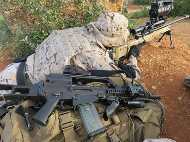 Rifle recamarado al .338 Lapua Magnum para los francotiradores de la Brigada de Infantería de Marina española