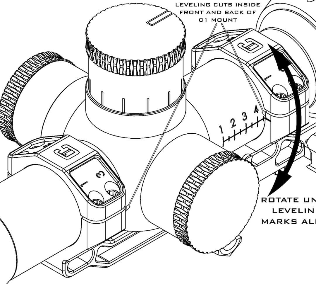 Badger Ordnance incorpora cortes de nivelación en monturas C1