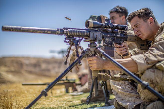 M110 SASS en el Centro de Entrenamiento de Operaciones Especiales King Abdullah II