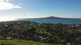 View from Mt Victoria to Rangitoto island