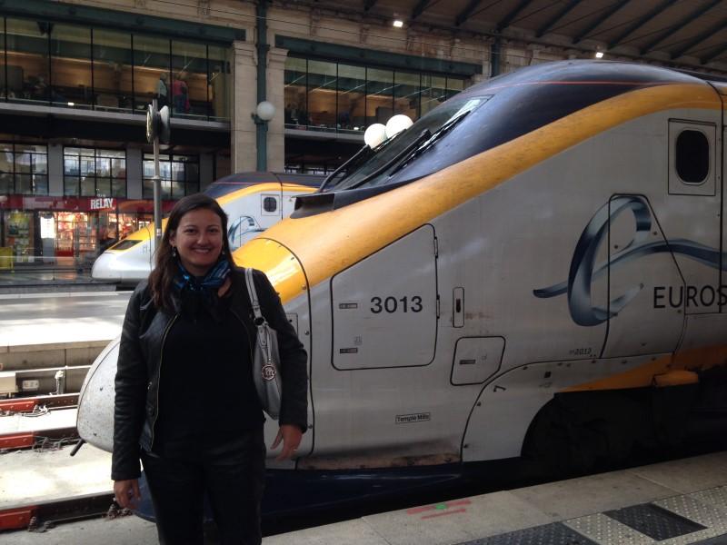Viajando de Londres até Paris no trem Eurostar