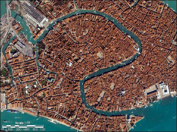 Veneza via satélite NASA