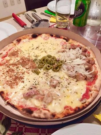 Pizza da Via Sabor Pizzaria, na Mooca em São Paulo.