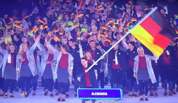 Delegação da Alemanha.