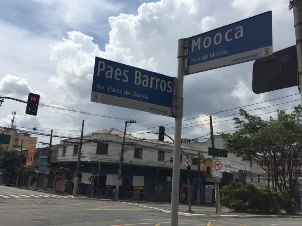 Cruzamentos das duas vias mais famosas da Mooca (Foto: Alessandra Maróstica)