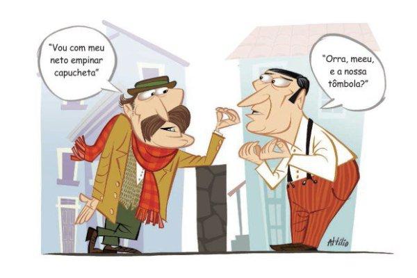 Conversa entre dois mooquenses. (Foto: Attílio
