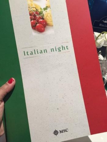 Noite italiana. Foto: AMF / Blog Tirando Férias
