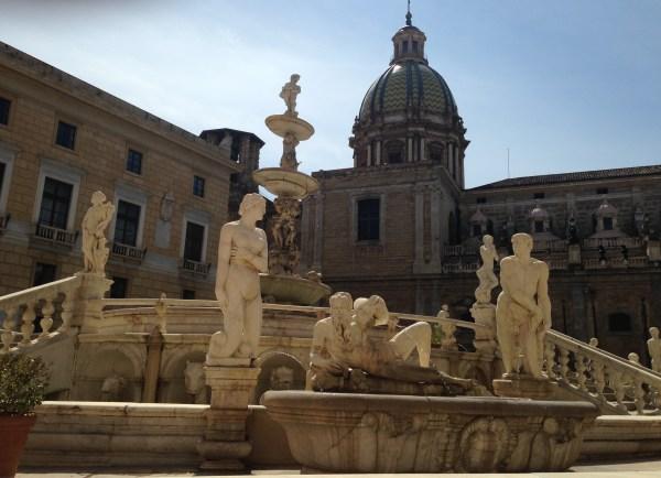 Fontana Pretoria em Palermo. Foto: AMF / Blog Tirando Férias