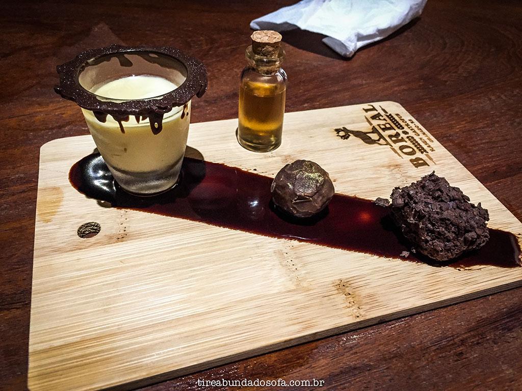 trufas de chocolate feitas com redução de cervejas no Boreal Gastropub