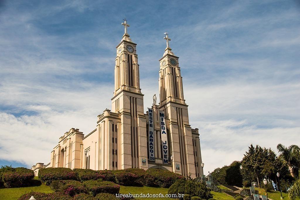 Igreja Matriz, cartão postal de São Bento do Sul