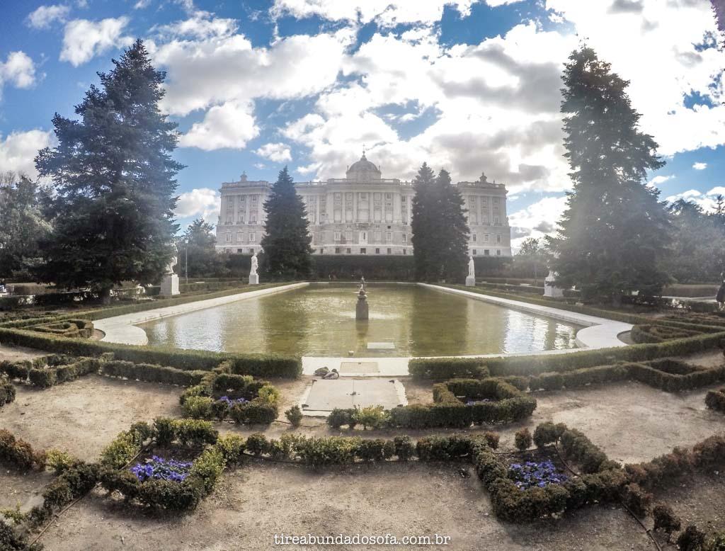 Palacio real de Madrid, na Espanha