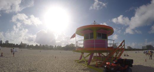 Salva vidas na praia de Miami beach