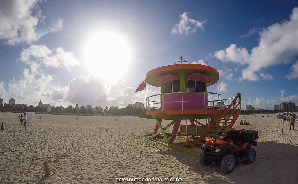 clássicas casinhas de salva vidas de miami beach