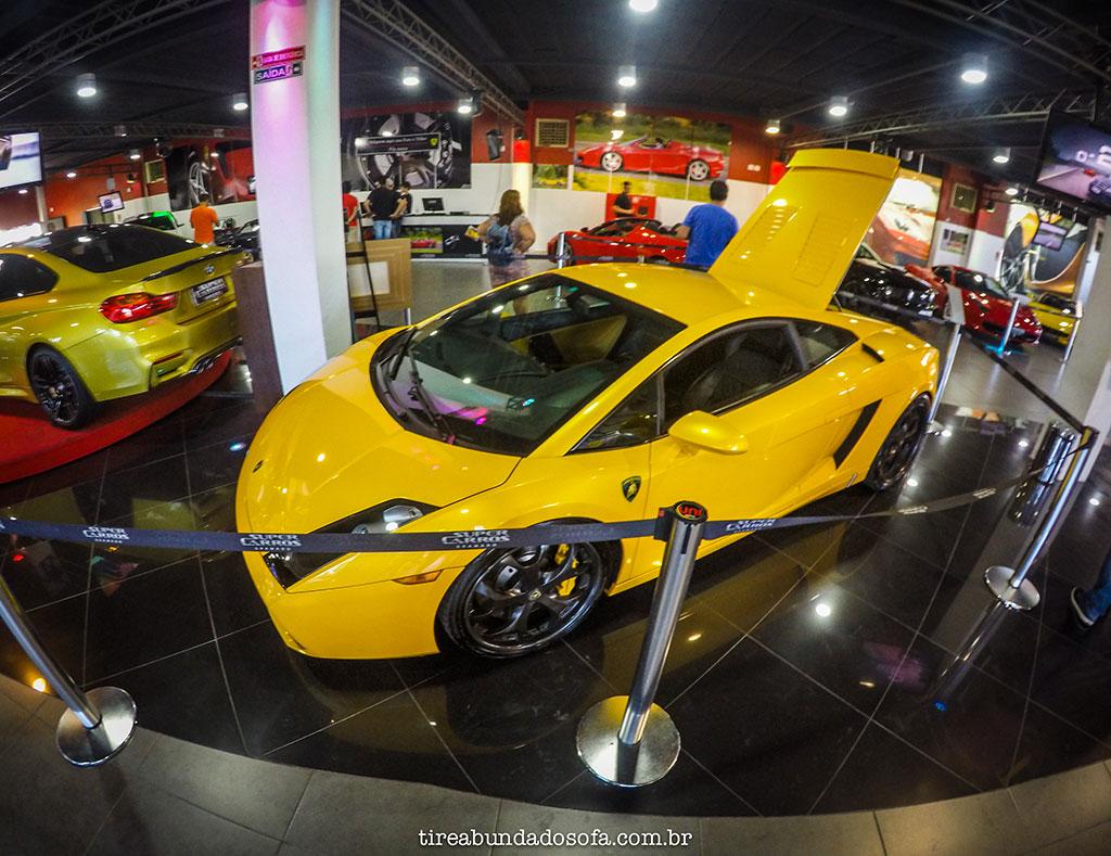 Lamborghini amarela no Super Carros em Gramado