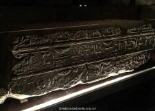 Inscrições no interior do Templo de Debod, em Madrid, Espanha