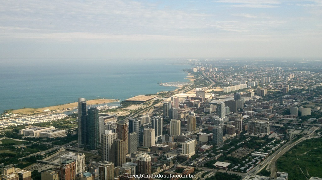 A vista de cima da Willis Tower, em Chicago