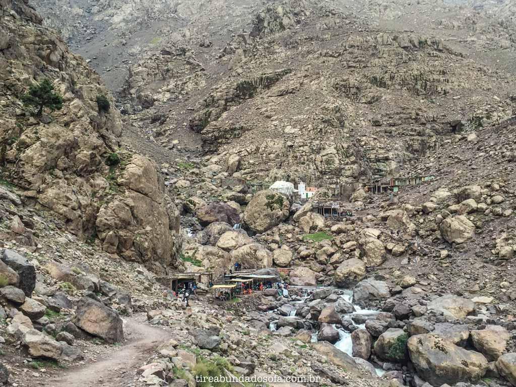 Parte do trajeto até o refúgio, em jbel toubkal, nas cordilheiras do atlas, no marrocos