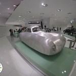 protótipo de carro porsche exposto no museu da marca em stuttgart