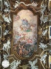 interior de igreja em roma, itália, pintura de teto