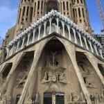 cartão postal de barcelona, igreja sagrada familia, espanha