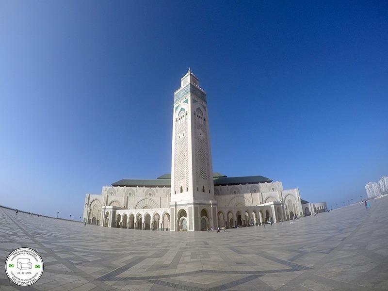 terceira maior mesquita do mundo, em casablanca, marrocos