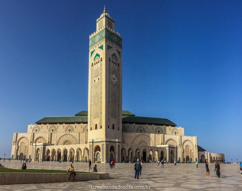 Hassan II, segunda maior mesquita do mundo, em casablanca, marrocos