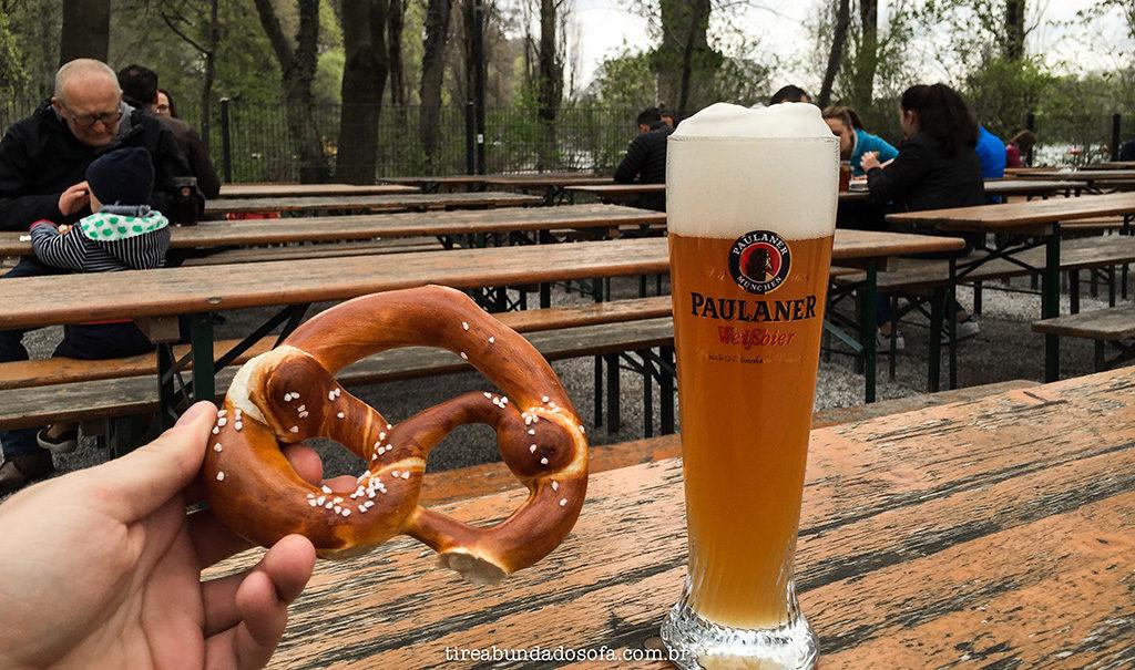 bretzel, pretzel, weissbier, cerveja de trigo, munique, munich, germany, alemanha, biergarten