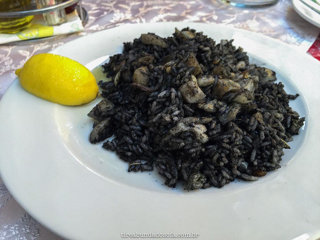 black risoto, risoto negro, frutos do mar, montenegro, kotor