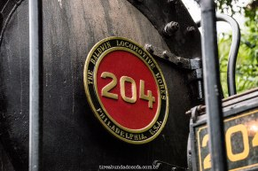 Frente da Locomotiva Mallet 204