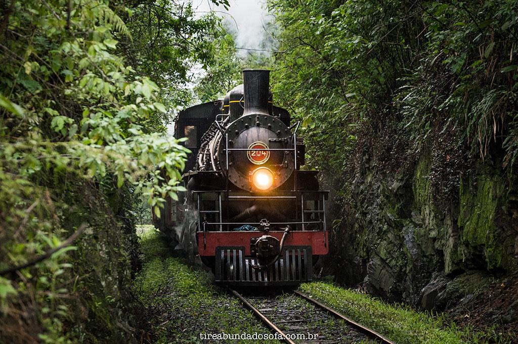 locomotiva Mallet 204, operando em Rio Negrinho, Santa Catarina