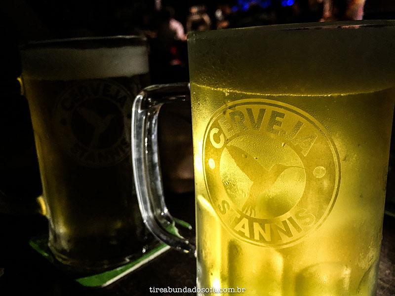 Caneco de chopp no Stannis Pub, com cerveja artesanal em Jaraguá do Sul