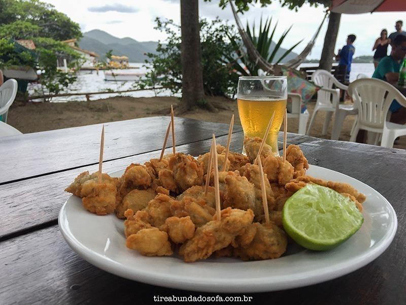 porção de isca de peixe no restaurante Bela Ilha em Florianópolis